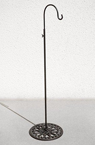 """Richland Adjustable Black Iron Shepherds Hook 34""""-55"""""""