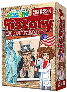 Professor Noggin's History of The United States Trivia Card Game - an Educational Trivia Based Card Game for Kids - Trivia...
