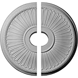 Ekena Millwork CM20BE12 Berkshire Ceiling Medallion, 20 1/8'OD x 3 7/8'ID x 1 7/8'P (Fits Canopies up to 6 3/8'), Factory Primed