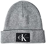 Calvin Klein Herren Strickmütze J Basic Men Knitted Beanie Grau (Grey P01) One Size...