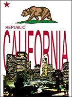 【ロサンゼルス カリフォルニア】 白光沢紙(フレーム無し)A1サイズ