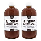 Lillie's Q - Hot Smoky Barbeque Sauce, Gourmet BBQ Sauce, Sweet Brown Sugar BBQ Sauce with Spicy...
