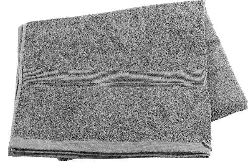 Wilson Gabor Saunahandtuch: Saunatuch aus Baumwoll-Frottee 220 x 90 cm, grau (Mini Strandtuch)