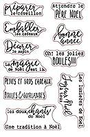 フランス語の単語透明クリアシリコンスタンプ/DIYスクラップブッキング用シール/フォトアルバム装飾クリアスタンプシートA877