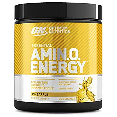 Optimum Nutrition Amino Energy Pre Workout Powder Keto Friendly with Beta Alanine, Caffeine, Amino Acids and Vitamin C, Pineapple, 30 Servings, 270 g