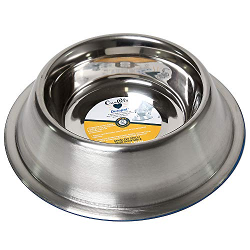OurPets DuraPet Premium Dishwasher Safe Stainless Steel Dog Bowl for Food or Water [Multiple Sizes for Small to Large Dogs] in Traditional or Wide Base Design - 3.5 CUPS