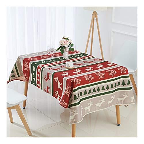 ZHAOXIANGXIANG Nappe De Noël Élégant Décor Accueil Polyester Tapis De Table Imprimé Numérique Cirée Noël Elk Pattern,60X60Cm