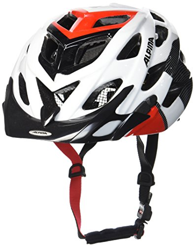 ALPINA Radhelm D-Alto, White/Black/Red, 57-61 cm