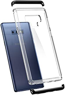 Galaxy Note 9 Case, Spigen Neo Hybrid NC with Disassemblable Top & Bottom Frames,Clear Rigid Back Black
