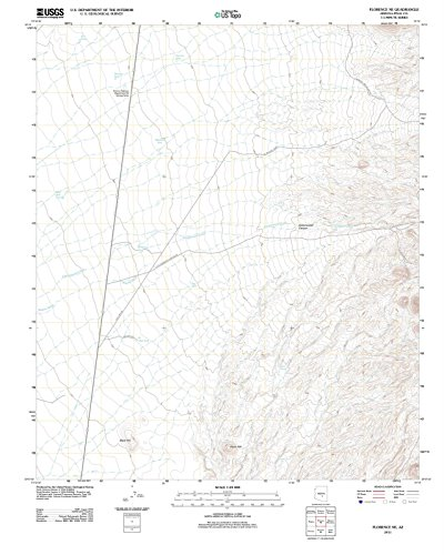 Arizona Maps - 2011 Florence, AZ - USGS Historical Topographic Wall Art - 18in x 24in