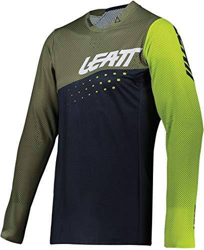 Leatt Maillot MTB 4.0 UltraWeld Cortavientos, Verde Fluor, M Unisex Adulto