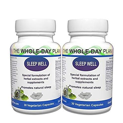 Sleep Well Twin Pack- Sleeping Pills for Insomnia - Sleeping Aid for Women and Men - Natural Sleep Support Capsules