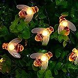 Solar Garden Lights, 50 LED Honey Bee Fairy String...