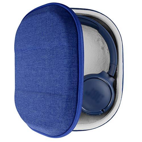 Geekria Tasche Kopfhörer für JBL Live 500 BT, Tune500BT, T450BT, E45BT, T600BTNC, Hard Tragetasche, Schutztasche für Headset Case (Blau)