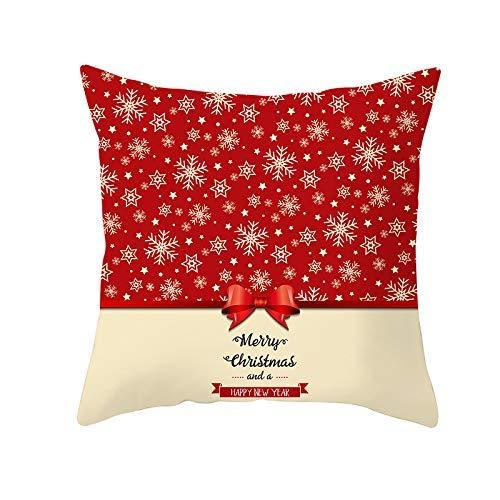 XCNGG Funda de almohada Funda de cojín de almohada para el hogar Ropa de cama 2020 Plush Pillow Cartoon on Christmas Day Decoration Cushion Sofa Throw Pillow Stuffed Toys for Christmas Toy Christmas C
