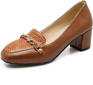BalaMasa Womens APL12311 Pu Block Heels