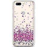 Coque pour One Plus 5T Coque Transparente Motif Jolie Fleur Animé Housse de téléphone en Silicone...