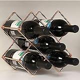 SWNN Botellero europeo Tieyi estante de vino se puede desmontar y montar estante de vino de hotel casa estante de vino decoración manualidades decoración 25 * 18 * 25 cm