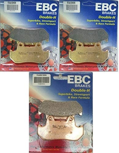 National uniform free shipping EBC HH Excellence Front + Rear Brake 1983-1986 Sets 3 Compatible wit Pads