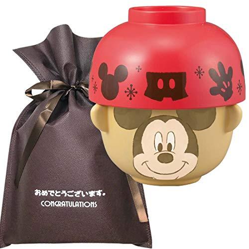 【おめでとうございますギフト】 汁椀茶碗セットミニ (クレヨンタッチ) ミッキーマウス 【L】
