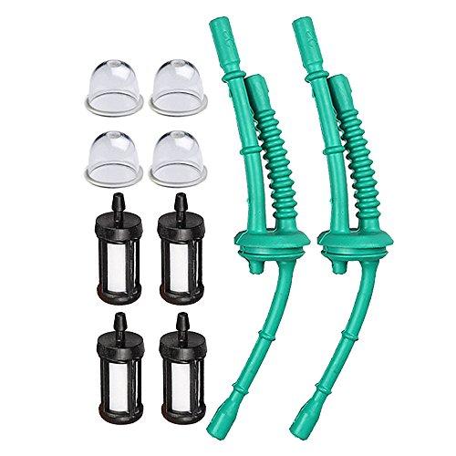 Hipa (Pack of 2 4140 358 7702 Fuel Line + Fuel Filter Primer Bulb for STIHL FS38 FS45 FS46 FS55 KM55 HL45 MM55 FS100 FS110 FS130 Trimmer Weed Eater