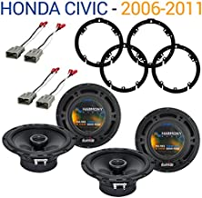 Compatible with Honda Civic 2006-2011 Factory Speaker Replacement Harmony (2) R65 Package New