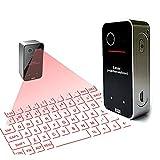 IYUNDUN Teclado De Proyección Láser Inalámbrico Teclado Virtual Bluetooth Ratón Y Teclado Ratón Bluetooth, para Oficina, Estudio, Ocio, Entretenimiento, Cafetería, Aula