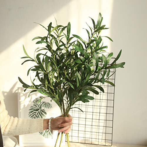 NOLAST 37 Long of Artificial Eucalyptus Leave Faux Greenery Branches Stems Fake Plants for Home Party Decoration