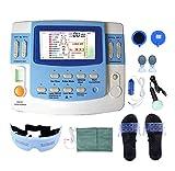 Electroestimulador muscular física integrada con ultrasonido equipo de fisioterapia, EA-F29 Tens y Ems 6 canales con función láser y sueño