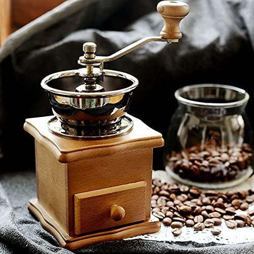 CWCCGGG Macchina per la Macchina da caffè della Mano Macchina per Il caffettiera del caffè del caffè del caffè Completamente Automatico della Mano di faggio 16.5 cm * 9,5 cm * 10 cm, Marrone