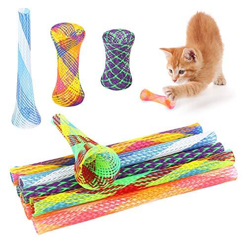 Fulushou 25 Stück Katze Frühling Spielzeug Bunt Spirale Katzen Spielzeug, Interaktives Katzenspielzeug Cat Spring Spielzeug für Katze Kätzchen Haustiere, Zufällige Farbe