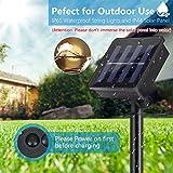 Solar Lichterkette Aussen, ECOWHO Warmweiß 22M 200 LEDs Kupferdraht lichterkette, 8 Modi IP65 Wasserdicht Solarlichterkette, Außen Lichterketten für Garten Weihnachten Deko - 4