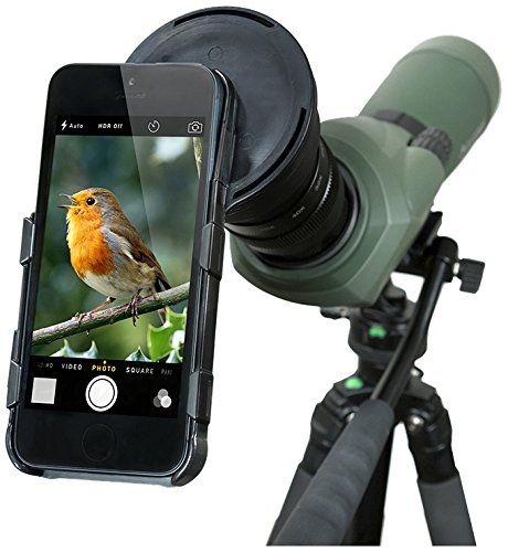 Celestron 81041 Regal Scope to iPhone 5/5S Smartphone Adapter (Black)