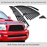 APS Compatible with 2005-2010 Toyota Tacoma TRD Sport Black Billet Grille Grill Combo Insert T87742H