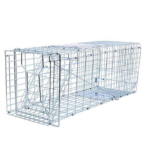 """XuanYue Pest Trap Cage Humane Animal Trap for Raccoon, Skunk, Chipmunk, Squirrel, Rat and Weasel, 26""""x10""""x11"""" Live Catch Small Rodents"""