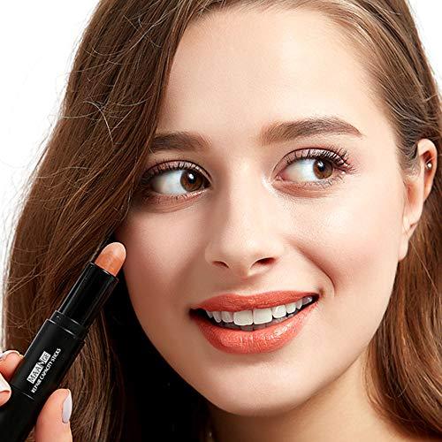 ❤️Vovotrade❤️❃❤️ 3D Poudre Teint Maquillage Anti-cernes, Natural Crème Visage Yeux Concealer Effet Contour Concealer Stick de Fondation Masquer Blemish Pores Visage Surligneur Couleur Correcteur Bâton