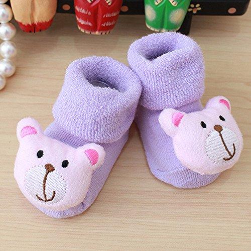 Xisheep Baby Socks,Cartoon Newborn Kids Baby Girls Boys Anti-Slip Warm Socks Slipper Shoes Boots Baby Care, Easter (D)