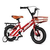 ZLI Bicicletas Infantiles Bicicleta Infantil Roja - Edad 2-12 Años Bicicletas para Niños Pequeños/Niños Grandes/Principiantes, Asiento y Manillar Ajustables, Ruedas de 12/14/16/18 Inch