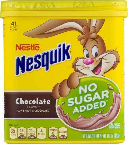 NESTLE NESQUIK No Sugar Added Chocolate Flavored Powder (Pack of 2)