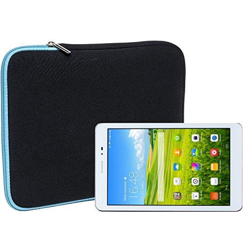 Slabo Tablet Tasche Schutzhülle für Huawei MediaPad T1 8.0 / Huawei Honor T1 Hülle Etui Hülle Phablet aus Neopren – TÜRKIS/SCHWARZ