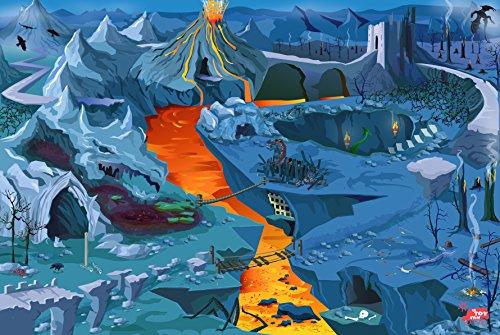 Le Toy Van - Alfombra para Juegos, diseño de volcanes