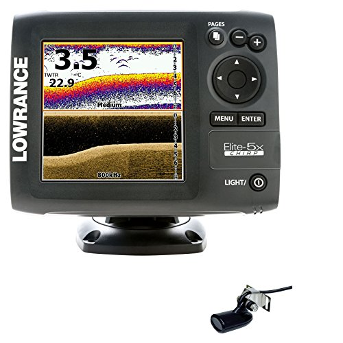 Lowrance 000-11656-001 Elite-5x CHIRP Fishfinder 50/200 and 455/800