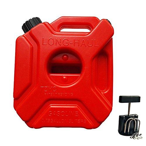 Tragbar Weithalskanister/Abklärkanister/Mehrzweckkanister/Kraftstoff-Kanister für Kompressorenöl Spindelöl Traktorenöl Etc,Benzinkanister als Auto Zubehör/Auto Pflege,5L mit Fester Halter