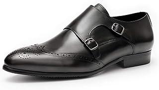 Rui Landed Zapatos Formales Brogue for Hombres Zapatos Oxford Premium Cuero auténtico Punta Estrecha Top del Punto bajo de...