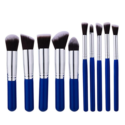 Bolayu 10PCS Make Up Brush, Foundation Eyebrow Eyeliner Blush Cosmetic Concealer Brushes