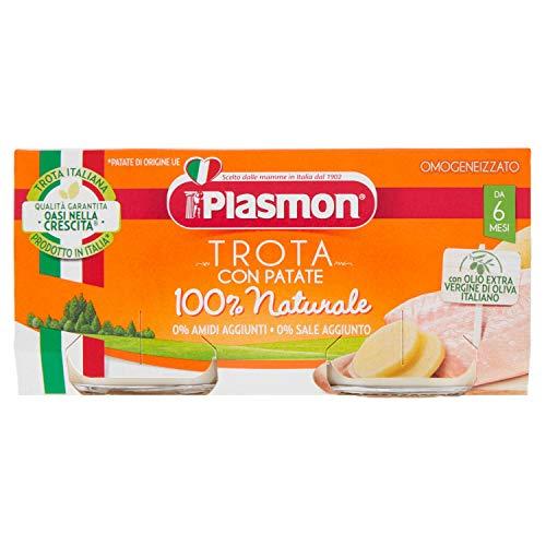 Plasmon - Oasi nella crescita, Trota con verdure, omogeneizzato, dal 6 mese - 160 g