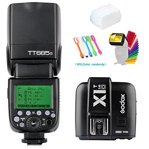 Godox TT685O 2.4G GN60 TTL Flash Speedlite Light High Speed Sync 1/8000s & X1T-O Wireless Flash