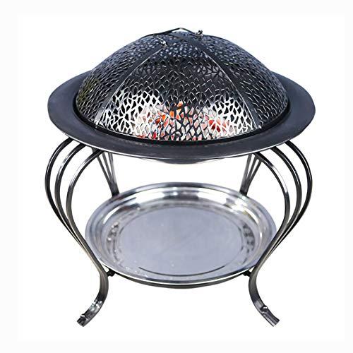 HAOTAI Chimenea de Interior Brasero Horno de carbón Hogares de Fuego portátiles para jardín, Fácil de Instalar, Jardín al Aire Libre Patio Camping Picnic BBQ Grill