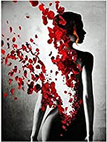 DMFNGJSD 数字油絵 フレームレス 、数字キット塗り絵 手塗り DIY絵-Portrait Woman,デジタル油絵 40x50 cm
