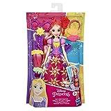 Bambola di capelli con extension per capelli, stile principessa Disney, taglio e stile Rapunzel con extension per capelli, forbici da gioco, accessori, giocattolo per ragazze dai 3 anni in su